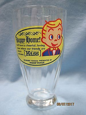 Vintage Osamu Harada Presented by Mister Donut Happy Home Glass Mint Condition