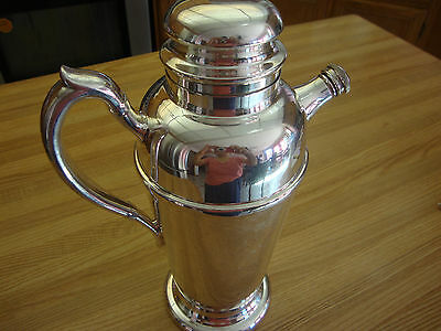 Silverplated Cocktail Shaker By E.p Cooper Viking Plate Made In Canada