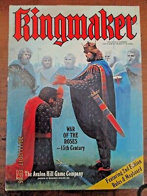 ~KINGMAKER 2nd EDITION by AVALON HILL GAME COMPANY - VGC~