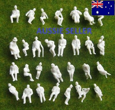 90Pcs.1:87 UnPainted White Figures Passengers All Seated HO/TT Scale