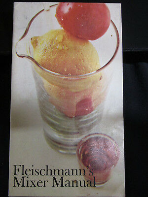 Vintage FLEISCHMANN'S MIXER Manual Gin Whiskey Scotch Vodka Bourbon 23 Pages