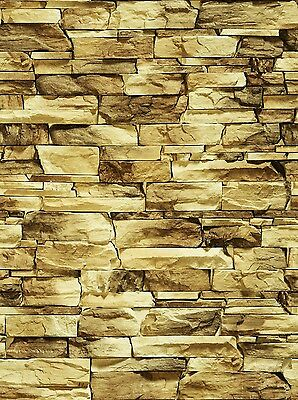 196 X 90 X 1Mm O/s Scale Large Stone Wall Treated Bumpy Paper Sheets 3D Look