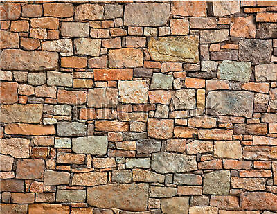 New 205X280Mm Oo/s Scale Self Adhesive Large Stone Wall Paper Sheets