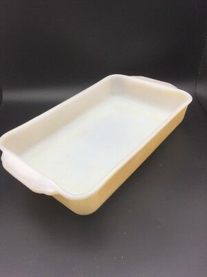Vintage Pyrex Fire King Butterfly Gold Casserole Dish Bowl 12x7x2