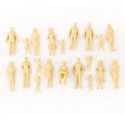 10Pcs G Scale 1:30  ALL DIFFERENT SKIN COLOUR FIGURES PEOPLE SEATED AND STANDING