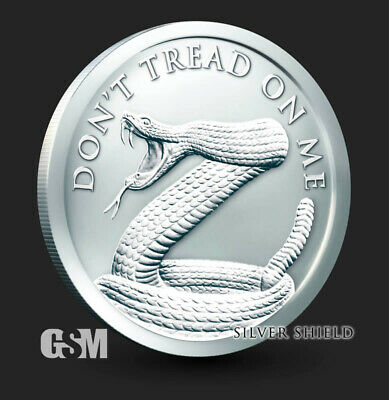 2019 - 1 oz Don't Tread On Me BU Silver Round .999 Fine - IN-STOCK!!