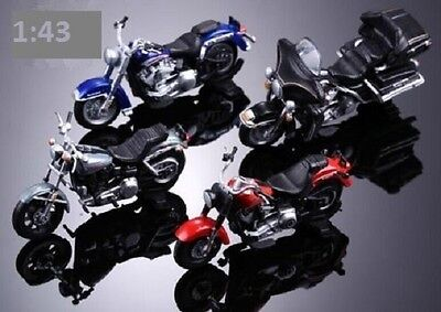 New 4PCS Loose In Packet Assorted 1:43 O Scale Motorbikes