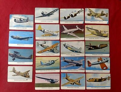 Lot of 19 WW2 Airforce Trading Card CARD-O-CHEWING GUM Series C AEROPLANES