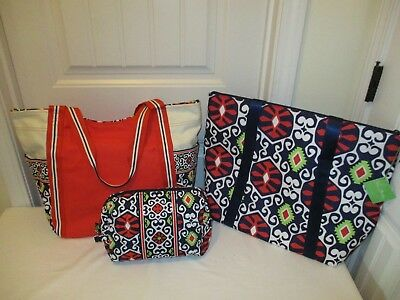 VERA BRADLEY NWTS Sun Valley Cooler Tote and Large Colorblock Tote Free Shipping