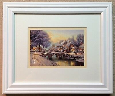"Thomas Kinkade Framed Open Edition ""Cobblestone Christmas"" -  NEW"