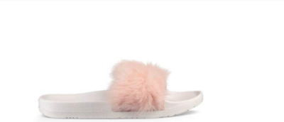 ugg women s royale baby pink fluffy fur slides slippers new in box