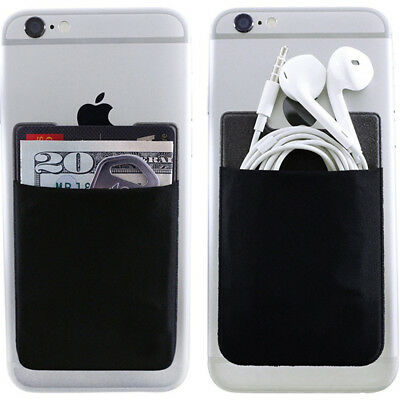 3M Wallet Credit Card Cash Pocket Stick on Adhesive Holder Pouch For Phone Hot W