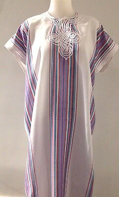 Moroccan Women Arabian Beach Summer/ wedding Caftan Dress Abaya Linen -  New