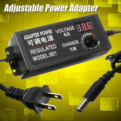 9-24V 3A 72W Adjustable Power Adapter Speed Control Volt AC/DC Supply Display