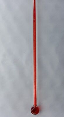 """Bulb Style  Replacement  Thermometer 12.001"""" long  x 3/16"""" wide Glass Bulb NOS"""