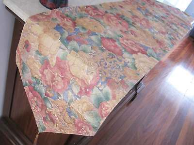 Gorgeous Peony Golden Thread Oil Painting Style Design Braid Table Runner L