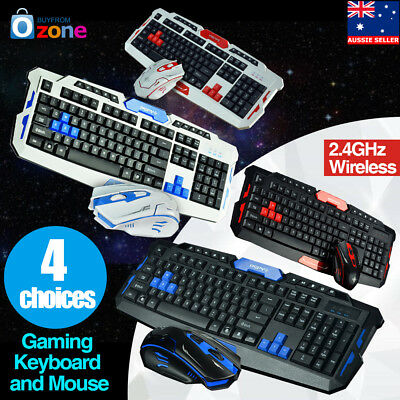 2.4GHz Wireless Gaming Keyboard and Mouse Set Desktop Laptop for Home/Office
