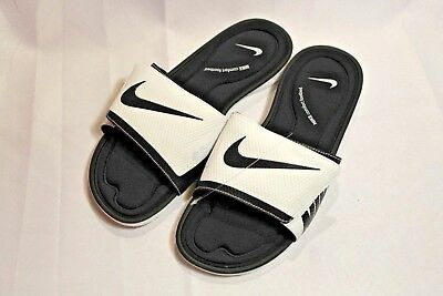 efa0e13f12a NEW MEN S NIKE Solarsoft Comfort White Black slides sandals -  31.49 ...