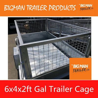 New Box Trailer Mesh Cage Galvanised Heavy Duty 6x4x2ft
