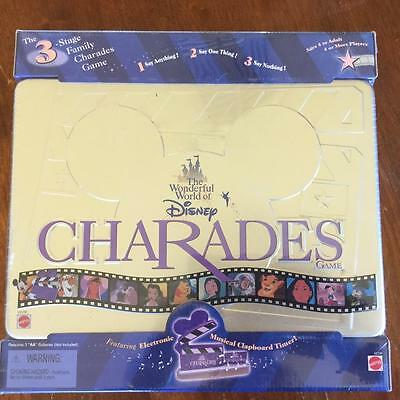 Mattel Disney Charades Board Game Hard To Find 1999 New Unopened Gr8 Family Fun