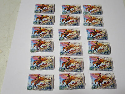 18 X 70 Cent Stamp The Man From Snowy River Postage Stamps Collectors Item