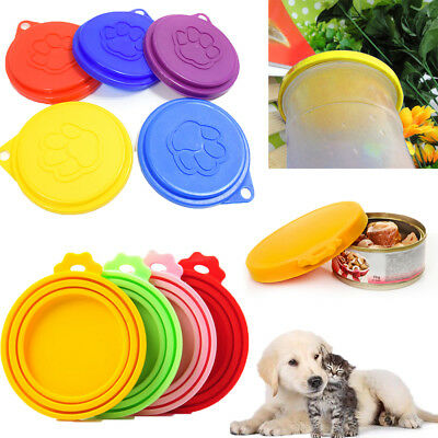 Pet Food Can Cover Lid Dog Cat Pet Tin Reusable Storage Cap Silicone & Plastic