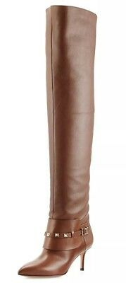 18974ac9e2b Valentino Rockstud Over-The-Knee Brown Boot. Size 9.5. Never been worn