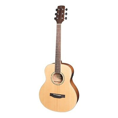 NEW Timberidge Left Handed TS-Mini Solid Spruce Top Acoustic-Electric Guitar