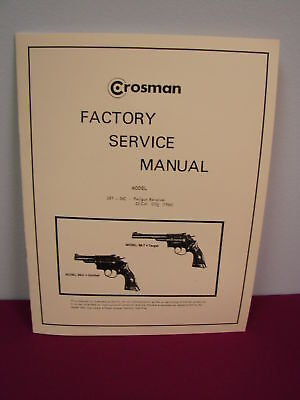 Crosman 38T & 38C SERVICE MANUAL **with added pages!