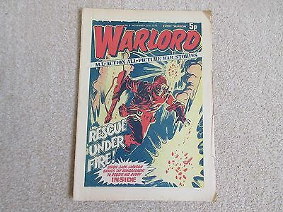 WARLORD comic No 9 , Nov 23rd 1974- good condition-Victor