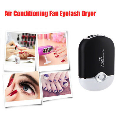 USB Mini Eyelash Extension Fan Air Conditioning Portable Quick Dryer Blower WW