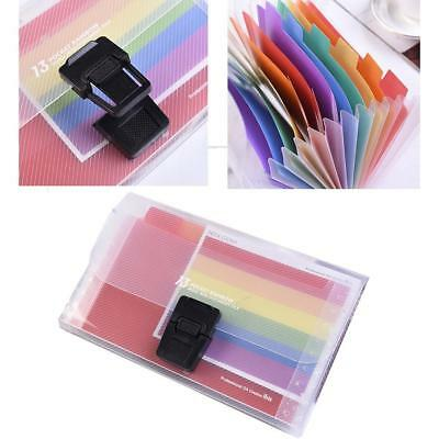 A6 Expanding File Folder Organizer Document Wallet Organizer Bag Rainbow /A+
