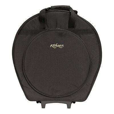 NEW Kahzan Deluxe Padded Cymbal Trolley Bag Carry Case Percussion (Black)