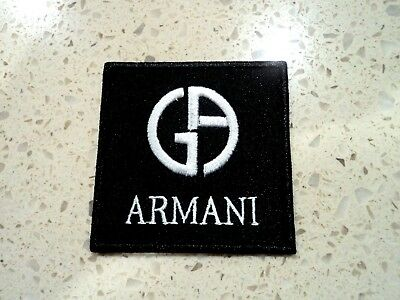 New Armani Fashion Logo Patch Embroider Cloth Patches Applique Badge Iron Sew On