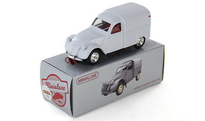 citroen 2cv camionnette minialuxe ref 38 1 se dinky car en metal neuve coffret cad. Black Bedroom Furniture Sets. Home Design Ideas