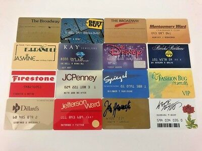 Lot of 16 Vintage Retail Store Cards Credit Charge Card Q16