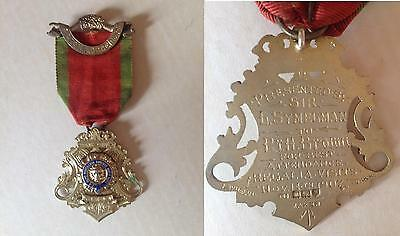 MEDAGLIA MASSONICA ARGENTO INGLESE -  ANNO  1907  - ACTON LODGE n. 24