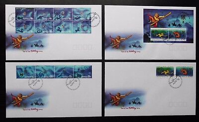 CHRISTMAS ISLAND 2004 Chinese New Year, Year of the Monkey, FDC x 4 covers