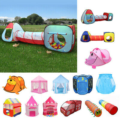 Kids Baby Indoor Outdoor Folding Play Tent/Tunnel/ House/Castle Ball Pit Pop Up