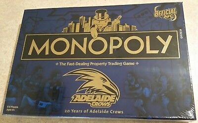 Brand New Monopoly Board Game - Adelaide Crows Football - Afl