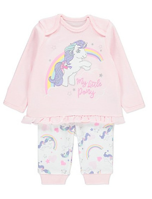 Baby Girls Character Pyjamas Pjs Set My Little Pony Glory Pink Gift Trousers Top