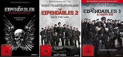 DVD The Expendables 1-3 Set Extended + uncut Sylvester Stallone, die 1,2 & 3 neu