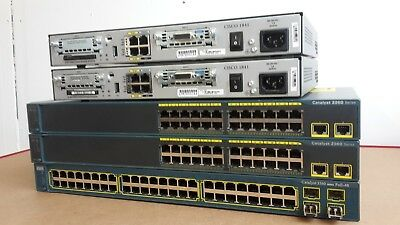 Cisco Ccna Ccnp Lab Two 1841 2960 3560  Router Switch Ideal Lab