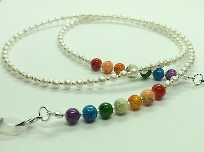 Chakra Glass Pearls Beaded Glasses Chain Spectacles Holder