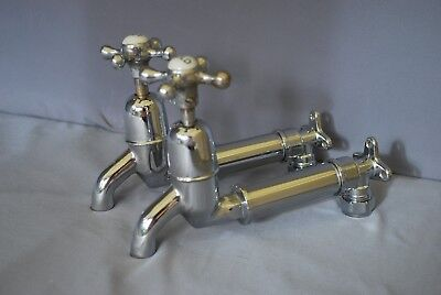 Old Chrome Wall Mounted Retro Kitchen Taps Ideal 4 Belfast Kitchen Sink Chrome