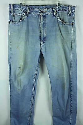 Vintage 1970's Levis Orange Tab Jeans Distressed Trashed Grunge Faded 38x30 38W