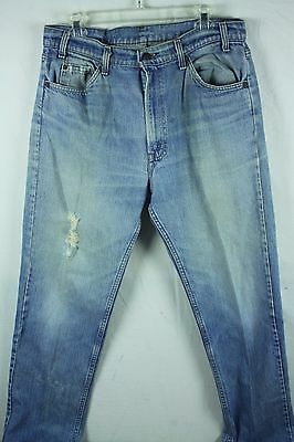 Vintage 1970's Levis Orange Tab Jeans Distressed Trashed Grunge Faded 35x30 35W