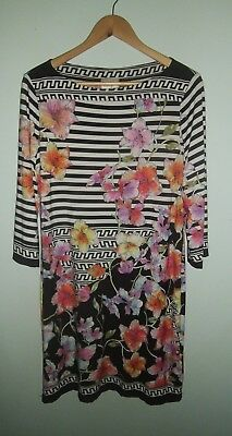 Womens Beige By Eci Multi-Colored Floral Dress Sz 12