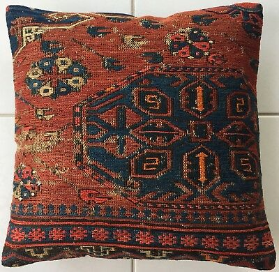 Antike Retro Daghestan Sumach Kelim Kissen Antique caucasus Pillow almohada