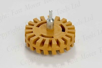 Heavy Duty Sticker Glue Moulding Stripe Removing Caramel Toffee Rubber Wheel Dec